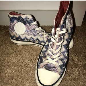 Missoni x Converse high tops